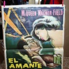 Cine: EL AMANTE DE LA MUERTE. STEVE MACQUEEN. ROBERT WAGNER. CARTEL ORIGINAL 1963. 70X100CM. Lote 128446371