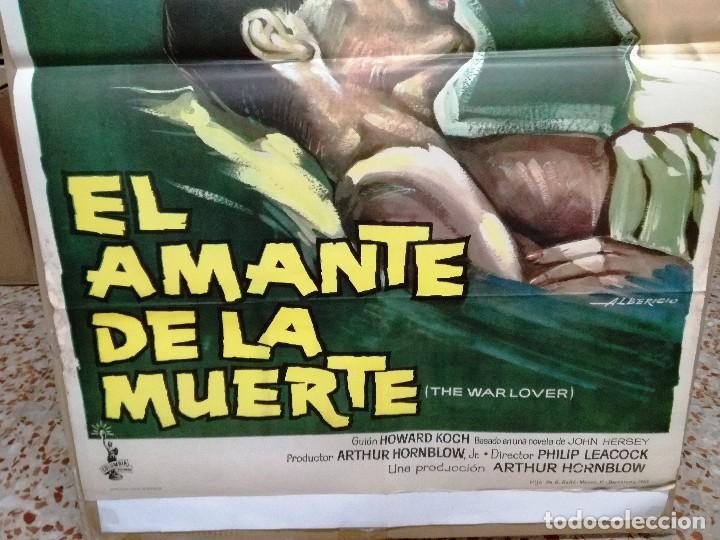 Cine: EL AMANTE DE LA MUERTE. STEVE MACQUEEN. ROBERT WAGNER. CARTEL ORIGINAL 1963. 70X100CM - Foto 2 - 128446371