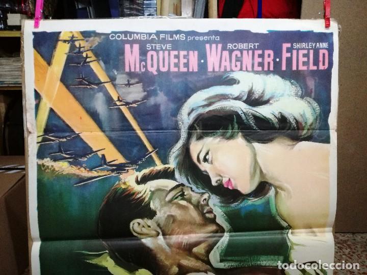 Cine: EL AMANTE DE LA MUERTE. STEVE MACQUEEN. ROBERT WAGNER. CARTEL ORIGINAL 1963. 70X100CM - Foto 3 - 128446371