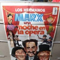 Cine: UNA NOCHE EN LA OPERA HERMANOS MARX POSTER ORIGINAL 70X100 YY(1869). Lote 128531638