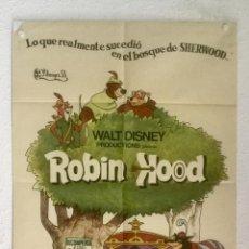 Cine: ROBIN HOOD - POSTER CARTEL ORIGINAL - WALT DISNEY ANIMACION . Lote 128553323