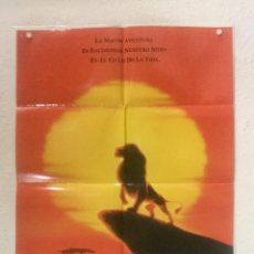 Cine: EL REY LEON - POSTER CARTEL ORIGINAL - WALT DISNEY ANIMACION THE LION KING. Lote 128553711