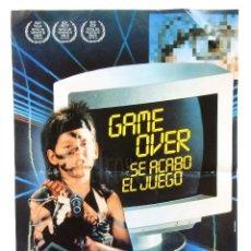 Cine: CARTEL POSTER GAME OVER SE ACABÓ EL JUEGO OBSEQUIO DE CHICLES CHEIW JUNIOR 1991. Lote 128589787