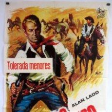 Cine: MARCADO A FUEGO (1950) ALAN LADD CARTEL ORIGINAL DE ESTRENO 70X100 CMS.. Lote 128590359