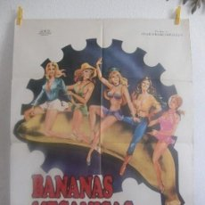 Cine: CARTEL CINE ORIG BANANAS MECANICAS (1973) 70X100 / MARIE-CLAIRE DAVY / ELISABETH DRANCOURT. Lote 128648187