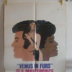 Cine: CARTEL CINE ORIG VENUS IN FURS (1969) 70X100 / JESÚS FRANCO / MARIA ROHM. Lote 128658635