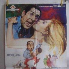 Cine: CARTEL CINE ORIG CUANDO EL CUERNO SUENA (1974) 70X100 / ALFREDO LANDA / ÁFRICA PRATT. Lote 128659203