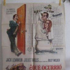 Cine: CARTEL CINE ORIG QUE OCURRIO ENTRE TU MADRE Y MI PADRE ? (1972) 70X100 / BILLY WILDER / JACK LEMMON. Lote 128659531