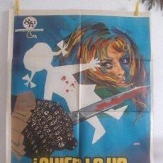 Cine: CARTEL CINE ORIG QUIEN LA HA VISTO MORIR ? (1972) 70X100 / ALDO LADO / ANITA STRINDBERG / JANO. Lote 128661835