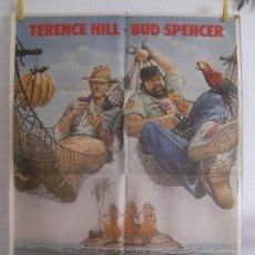 Cine: CARTEL CINE ORIG QUIEN TIENE UN AMIGO TIENE UN TESORO (1981) 70X100 / BUD SPENCER / TERENCE HILL. Lote 128662499