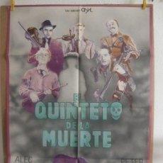 Cine: CARTEL CINE ORIG EL QUINTETO DE LA MUERTE (1955) 70X100 / ALEC GUINNESS / PETER SELLERS. Lote 128663307