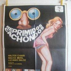 Cine: CARTEL CINE ORIG REPRIMIDOS Y CACHONDOS (1978) 70X100 / VITTORIO SINDONI / CLASIFICADA S / JANO. Lote 128688555