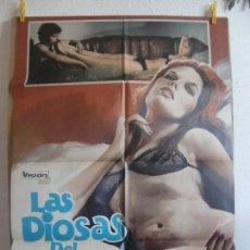 Cine: CARTEL CINE ORIG LAS DIOSAS DEL PLACER (1972) 70X100 / ERWIN C. DIETRICH / MATAIX. Lote 128689143