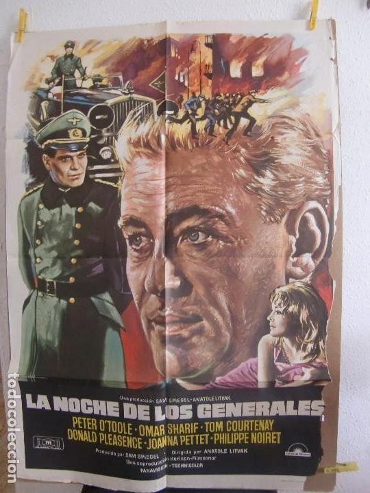 CARTEL CINE ORIG LA NOCHE DE LOS GENERALES (1976) 70X100 / PETER O'TOOLE / OMAR SHARIF (Cine - Posters y Carteles - Bélicas)