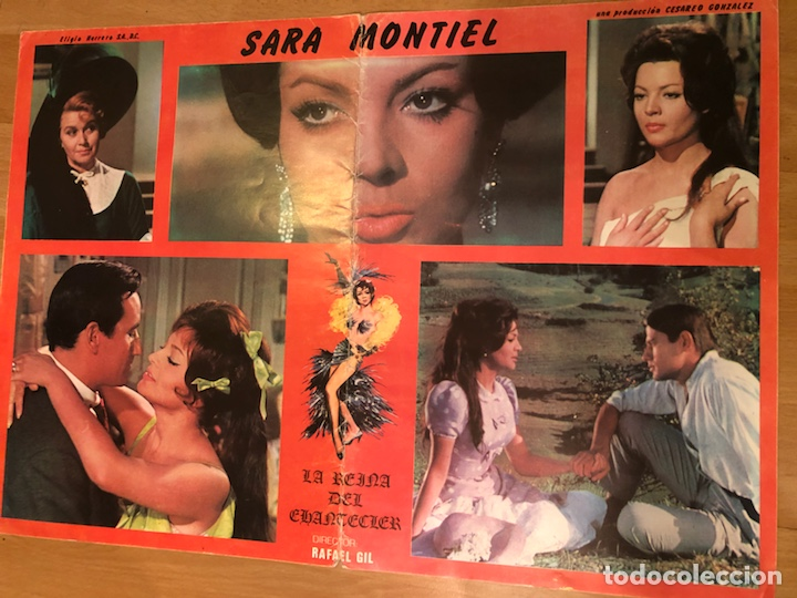 CARTEL LA REINA DEL CHANTECLER.SARA SARITA MONTIEL (Cine - Posters y Carteles - Clasico Español)
