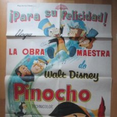 Cine: CARTEL CINE, PINOCHO, WALT DISNEY, 1963, C1440. Lote 128890987