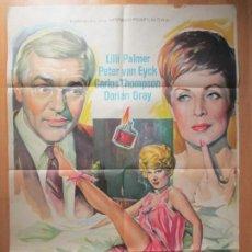 Cine: CARTEL CINE, MI ESPOSA CONSTANZA, LILLI PALMER, PETER VAN EYCK, DORIAN GRAY, 1963, SOLIGO, C1441. Lote 128891359