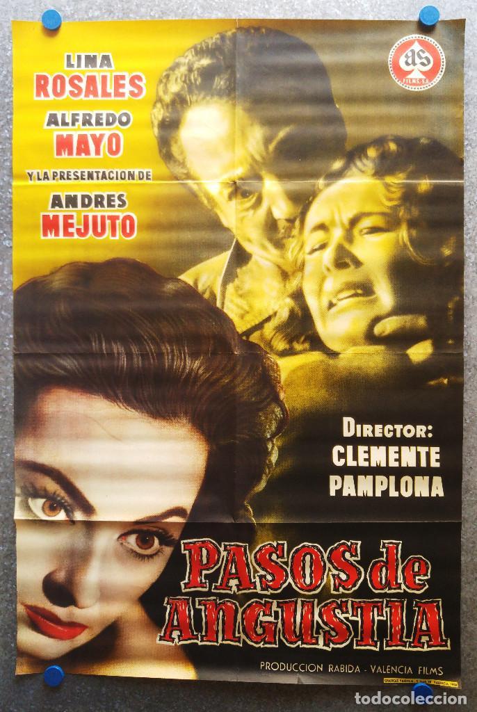 PASOS DE ANGUSTIA ALFREDO MAYO LINA ROSALES. AÑO 1958 (Cine - Posters y Carteles - Clasico Español)