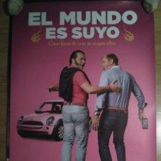 Cine: EL MUNDO ES SUYO - APROX 70X100 CARTEL ORIGINAL CINE (L59). Lote 128937435