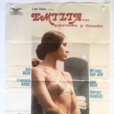 Cine: EMILIA PARADA Y FONDA - POSTER CARTEL ORIGINAL - ANA BELEN PACO RABAL LUIS EDUARDO AUTE. Lote 129147719