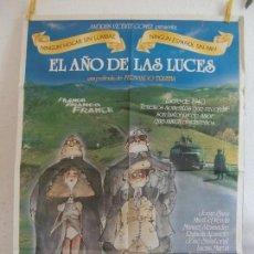 Cine: CARTEL CINE ORIG EL AÑO DE LAS LUCES (1986) 70X100 / FERNANDO TRUEBA / MARIBEL VERDÚ. Lote 129167527