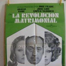Cine: CARTEL CINE ORIG LA REVOLUCION MATRIMONIAL (1974) 70X100 / ANALÍA GADÉ / J LUIS LÓPEZ VÁZQUEZ. Lote 129173983