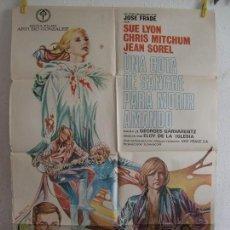 Cinema: CARTEL CINE ORIG UNA GOTA DE SANGRE PARA MORIR AMANDO (1973) 70X100 / ELOY DE LA IGLESIA / SUE LYON. Lote 129246499