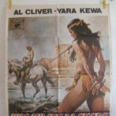 Cinéma: CARTEL CINE ORIG UNA MUJER LLAMADA APACHE (1976) 70X100 / AL CLIVER / CLARA HOPF,. Lote 129416023