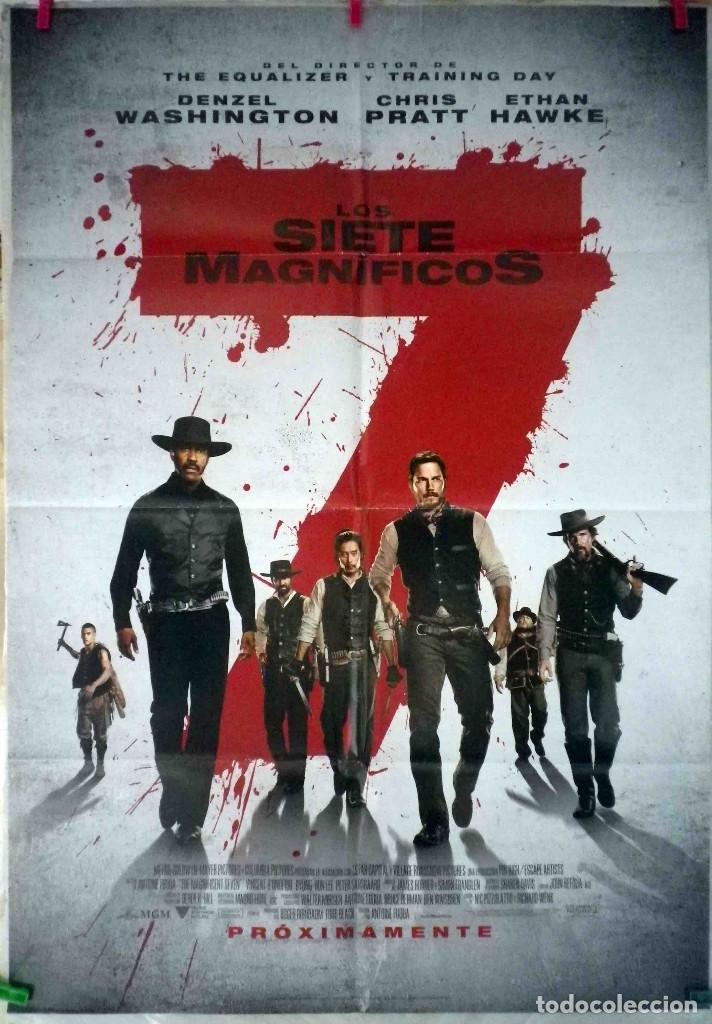 ORIGINALES DE CINE: LOS SIETE MAGNÍFICOS (DENZEL WASHINGTON, CHRIS PRATT, ETHAN HAWKE, LEE BYUNG-HUN (Cine - Posters y Carteles - Westerns)