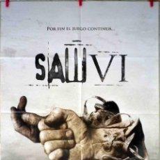 Cine: ORIGINALES DE CINE: SAW VI (TOBIN BELL, COSTAS MANDYLOR, BETSY RUSSELL, MARK ROLSTON) 70X100 CMS.. Lote 129480939