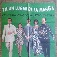 Cine: EN UN LUGAR DE LA MANGA. CARTEL ESTRENO 70X100. MANOLO ESCOBAR, CONCHA VELASCO. Lote 129510847