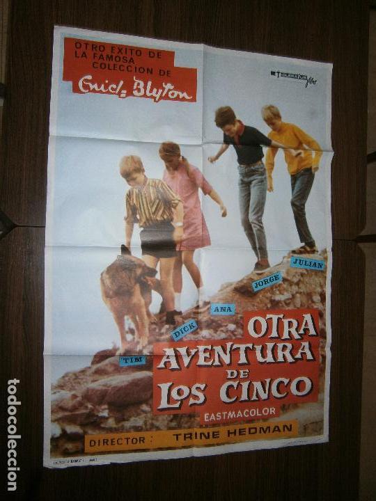 CARTEL DE CINE ORIGINAL OTRA AVENTURA DE LOS CINCO ENID BLYTON MD 100 X 70 CM (Cine - Posters y Carteles - Infantil)