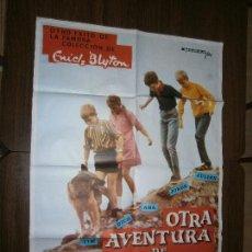 Cine: CARTEL DE CINE ORIGINAL OTRA AVENTURA DE LOS CINCO ENID BLYTON MD 100 X 70 CM. Lote 129520783