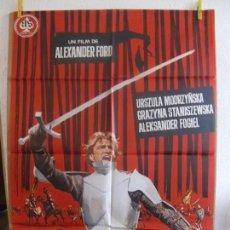 Cine: CARTEL CINE ORIG LOS CABALLEROS TEUTONICOS (1960) 70X100 / ALEKSANDER FORD / JANO. Lote 129987115