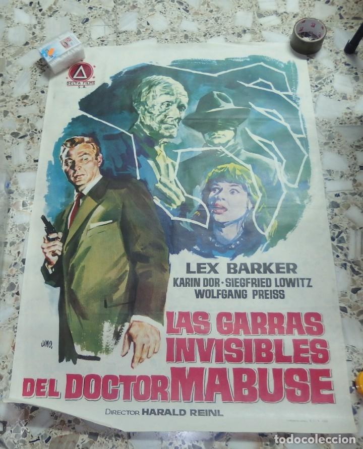 LAS GARRAS INVISIBLES DEL DOCTOR MABUSE,AÑO 1963 (Cine - Posters y Carteles - Terror)
