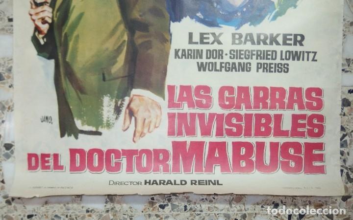 Cine: LAS GARRAS INVISIBLES DEL DOCTOR MABUSE,AÑO 1963 - Foto 4 - 253293720