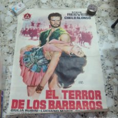 Cine: EL TERROR DE LOS BÁRBAROS,AÑO 1962. Lote 134361305