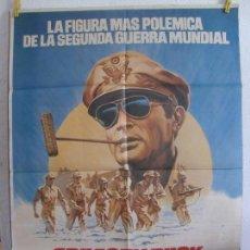 Cinema: CARTEL CINE ORIG MAC ARTHUR EL GENERAL REBELDE (1977) 70X100 / GREGORY PECK. Lote 130010483