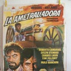 Cine: CARTEL CINE ORIG LA AMETRALLADORA (1968) 70X100 / JOHN IRELAND / ROBERT WOODS / JANO. Lote 130031099