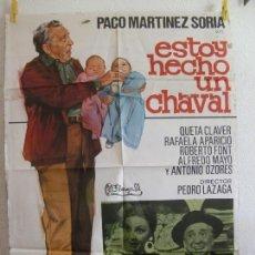 Cine: CARTEL CINE ORIG ESTOY HECHO UN CHAVAL (1976) 70X100 / PACO MARTÍNEZ SORIA / PEDRO LAZAGA / JANO. Lote 130034571