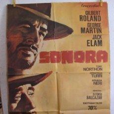 Cine: CARTEL CINE ORIG SONORA (1968) 70X100 / GILBERT ROLAND, GEORGE MARTIN. Lote 130034935