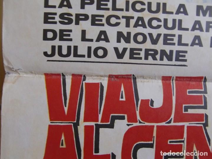 Cine: cartel cine orig VIAJE AL CENTRO DE LA TIERRA (1977) 70x100 / Juan Piquer Simón - Foto 2 - 130056783