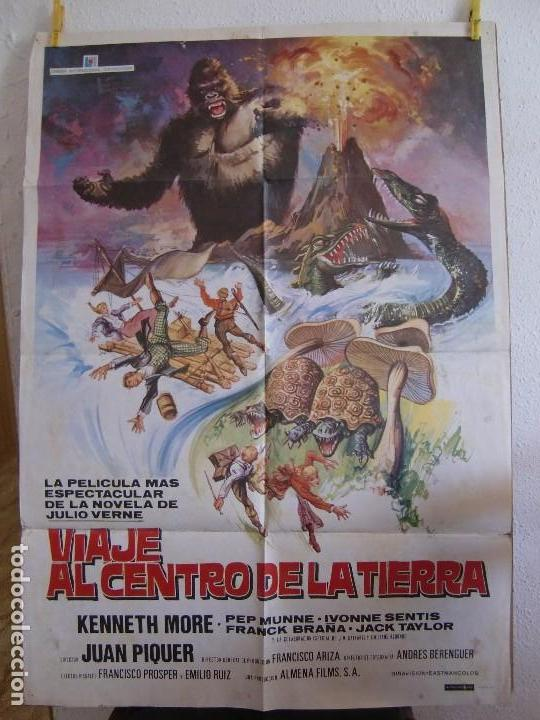 CARTEL CINE ORIG VIAJE AL CENTRO DE LA TIERRA (1977) 70X100 / JUAN PIQUER SIMÓN (Cine - Posters y Carteles - Aventura)