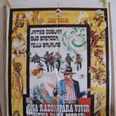 Cine: CARTEL CINE ORIG UNA RAZON PARA VIVIR Y UNA PARA MORIR (1972) 70X100 / BUD SPENCER. Lote 130057063