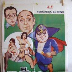 Cine: CARTEL CINE ORIG EL EROTICO ENMASCARADO (1980) 70X100 / FERNANDO ESTESO / ANTONIO OZORES / JANO. Lote 130098423