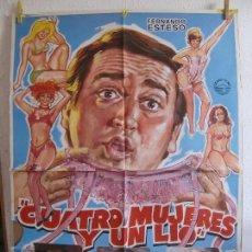 Cine: CARTEL CINE ORIG CUATRO MUJERES Y UN LIO (1985) 70X100 / FERNANDO ESTESO / ANTONIO OZORES,. Lote 130113611