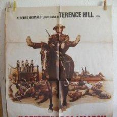 Cine: CARTEL CINE ORIG Y DESPUES LE LLAMARON EL MAGNIFICO (1972) 70X100 / TERENCE HILL. Lote 150740306