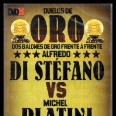 Cine: DVD, DUELOS DE ORO, DOS BALONES DE ORO FRENTE A FRENTE, DI STEFANO - MICHEL PLATINI.. Lote 130199967