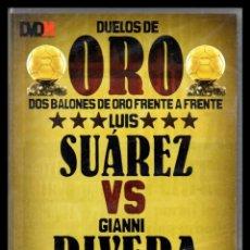 Cine: DVD, DUELOS DE ORO, DOS BALONES DE ORO FRENTE A FRENTE, LUIS SUAREZ - GIANNI RIVERA.. Lote 130200435