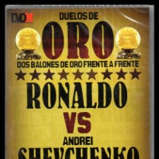 Cine: DVD, DUEOLS DE ORO, DOS BALONES DE ORO FRENTE A FRENTE, RONALDO - ANDREI SHEVCHENKO.. Lote 130201239